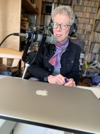 """Terry Gross, host of """"Fresh Air,"""" working remotely"""