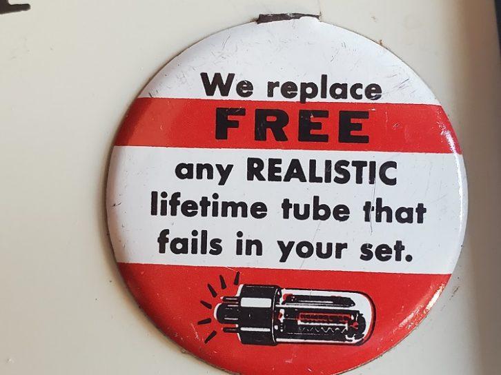 Radio Shack free tube button