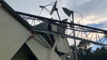 Boswell Media, WLIN, radio tower storm damage, Kosciusko Miss.